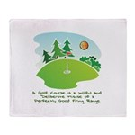 The Golf Course Throw Blanket