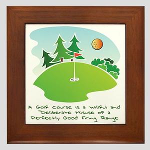 The Golf Course Framed Tile