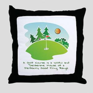The Golf Course Throw Pillow
