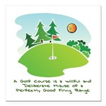 The Golf Course Square Car Magnet 3