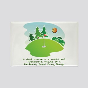 The Golf Course Rectangle Magnet