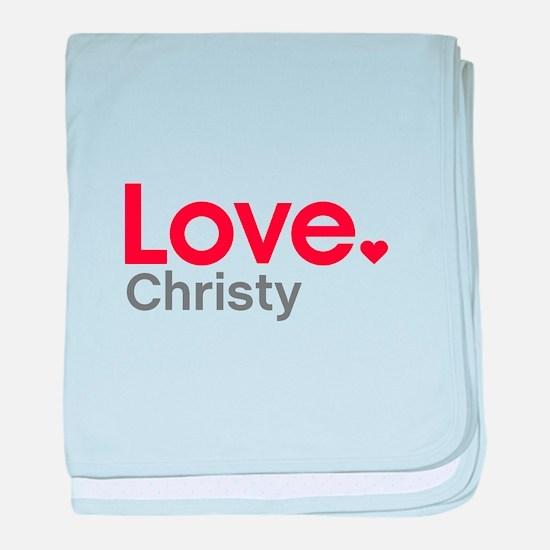Love Christy baby blanket