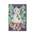 Ballerina Kitty Fairy Rectangle Magnet