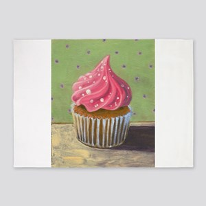 Russian Pink Cupcake - 5'x7'Area Rug
