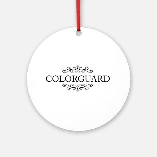 Colorguard Ornament (Round)