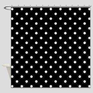 Black and White Polka Dot. Shower Curtain