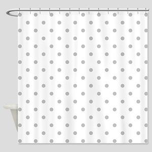 Light Gray Dot Pattern. Shower Curtain