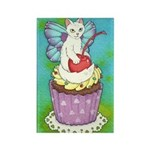Cherry Cupcake Kitty Fairy Rectangle Magnet