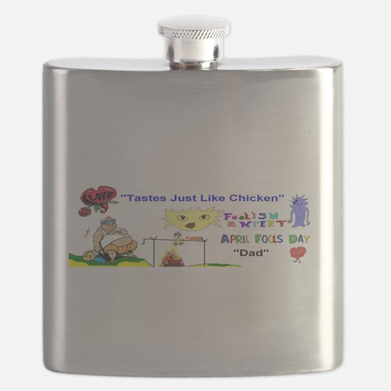April Fools Day Dad Flask