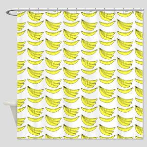 Yellow Bananas Pattern Shower Curtain