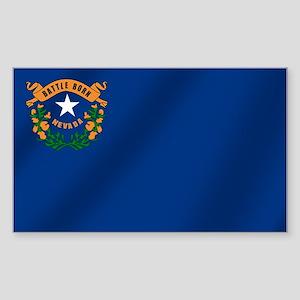 Nevada State Flag Sticker (Rectangle)