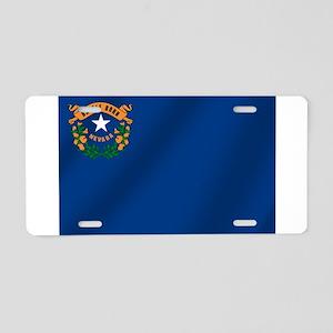 Nevada State Flag Aluminum License Plate