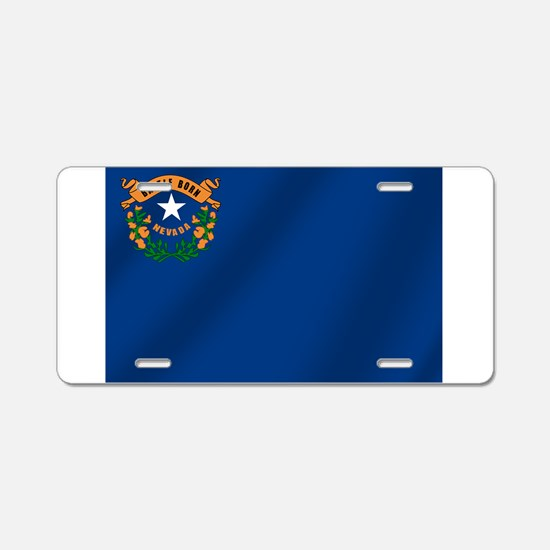 Nevada State Flag Aluminum License Plate