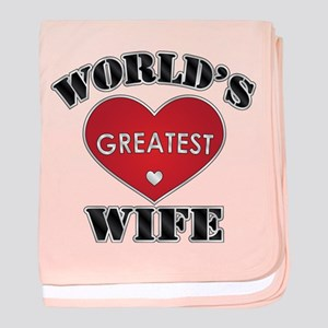 World's Greatest Wife baby blanket