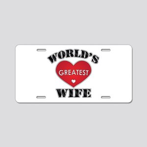 World's Greatest Wife Aluminum License Plate