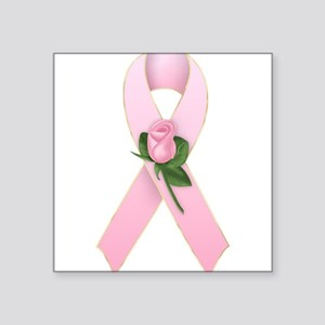 Breast Cancer Ribbon 2 Rectangle Sticker
