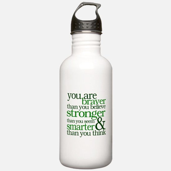 You are stronger than you seem Water Bottle