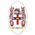 Appel Sticker (Oval)