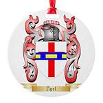 Apel Round Ornament