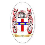 Apel Sticker (Oval)