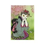 Snowdrop Kimono Kitty Rectangle Magnet
