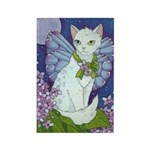 Moonlight Lilac Catterfly Rectangle Magnet