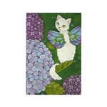Hydrangea Catterfly Rectangle Magnet
