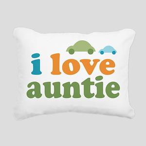 I Love Auntie Rectangular Canvas Pillow