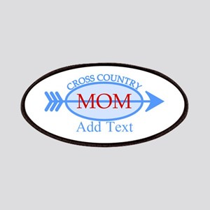 Cross Country Mom Blue Text Patches