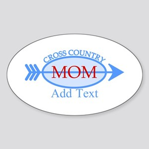 Cross Country Mom Blue Text Sticker