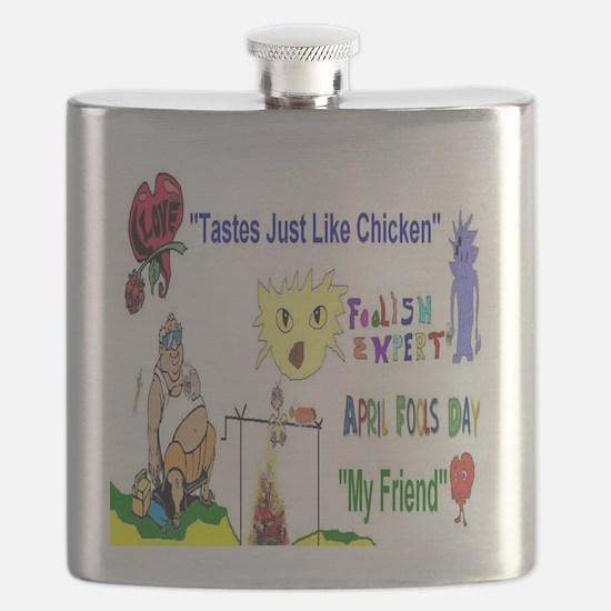 April Fools Day Friend Flask