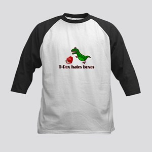 T-Rex hates boxes on Valentines Day tee Kids Baseb