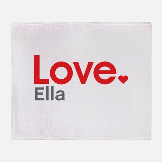 Love Ella Throw Blanket