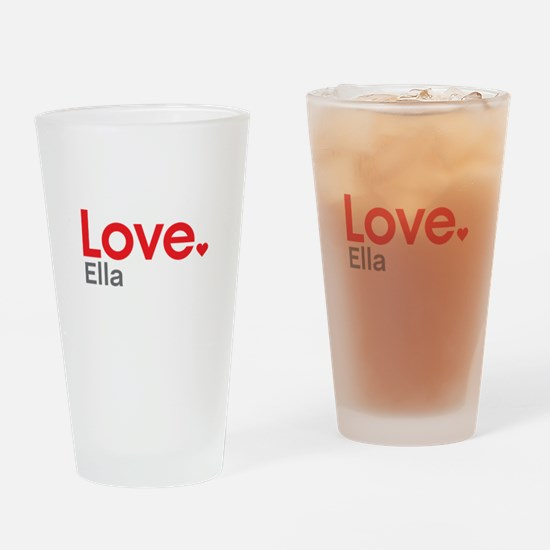 Love Ella Drinking Glass