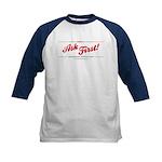 Ask First! Kids Baseball Jersey