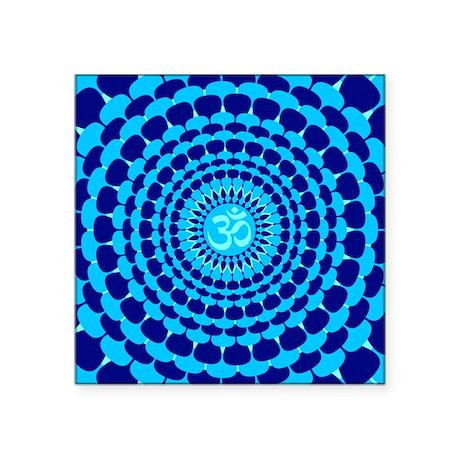 Turquoise Blue Yoga Mandala Sticker