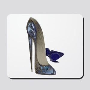 Blue Stiletto Shoes Art Mousepad