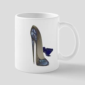 Blue Stiletto Shoes Art Mug