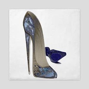 Blue Stiletto Shoes Art Queen Duvet