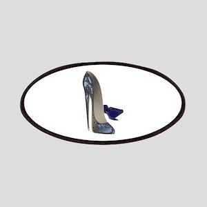 Blue Stiletto Shoes Art Patches