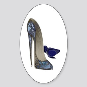 Blue Stiletto Shoes Art Sticker