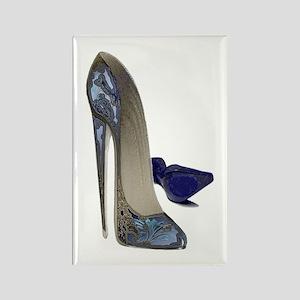 Blue Stiletto Shoes Art Rectangle Magnet