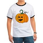 Jack o'Lantern Cutie 2 Sided Ringer T-Shirt