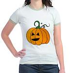 Jack o'Lantern Cutie 2 Sided Jr. Ringer T-Shirt