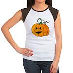 Jack o'Lantern Cutie 2 Sided Women's Cap Sleeve T