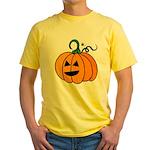 Jack o'Lantern Cutie 2 Sided Yellow T-Shirt