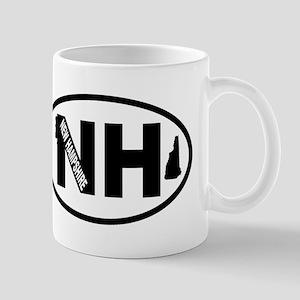 New Hampshire Old Man and Map Mug