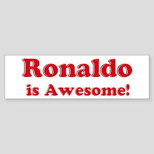 Ronaldo is Awesome Bumper Sticker