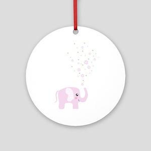 Cute elephant Ornament (Round)