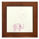 Cute elephant Framed Tile